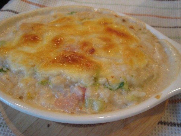白菜とベーコンのドリア