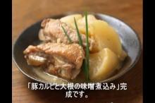 豚カルビと大根の味噌煮込み